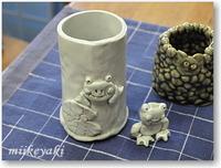 陶芸体験の作品が続々と完成しています!!