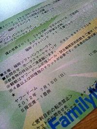 鷹の祭典2012のチケット当選!