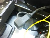 充電コード取付