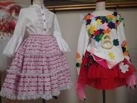 絣のロリータファッション スカート