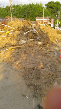 朝倉市の豪雨被害地