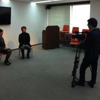 泉 忠司 対談の動画の撮影