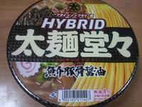 HYBRIDハイブリッド太麺堂々 魚介豚骨醤油