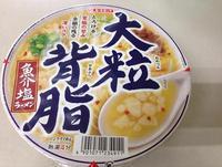大粒背脂魚介塩ラーメン エースコック