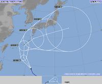 朝日の稲刈と台風22号