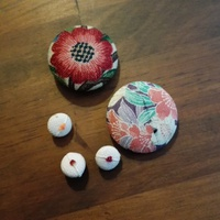 くるみボタン作り挑戦