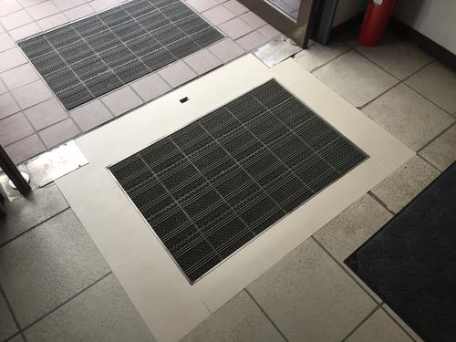 Pタイル 床貼り 福岡