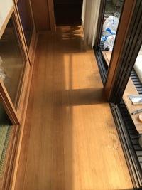 戸建て住宅の床に塩ビタイル施工事例