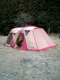 若杉楽園でキャンプ中