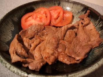 豚肉の博多んぽん酢焼き