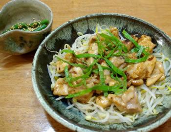 鶏肉の梅肉&博多んぽん酢炒め