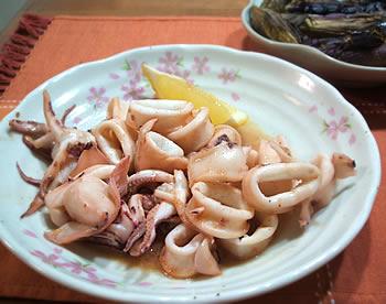 イカの博多んぽん酢炒め