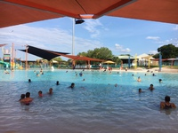Darwin市内で1番人気のスライダープール遊戯施設(無料)