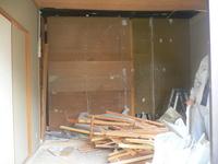 着付け室の解体工事
