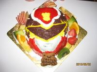おそくなりました~・・・コタの為のケーキ!!