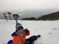 皿倉雪遊び