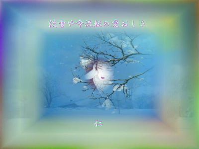 フォト575『 淡雪や命流転の愛おしさ 』