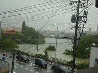 豪雨がもたらした被害を走って実感