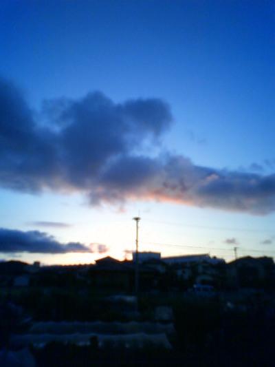 昨日の夕方。