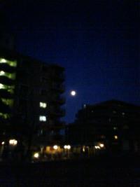 きのうの月。