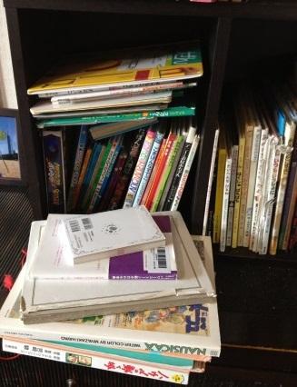 片付かない本棚