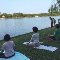 「国際ヨガの日」記念イベント「青空ヨガ教室」を開催