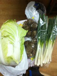 野菜買ってきた。