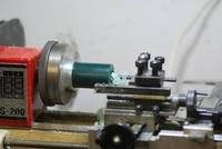 旋盤でリング制作