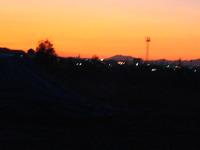 ウォーキング途中の夕陽