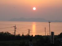 大村湾の夕日