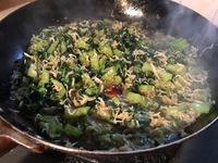 かつお菜の  油炒め