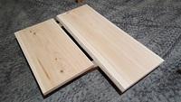 テレビ台用の杉の一枚板