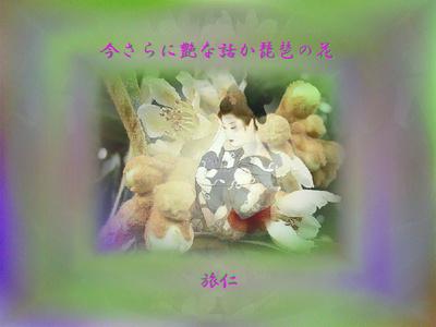 フォト575ty1301『 今さらに艶な話か琵琶の花 』