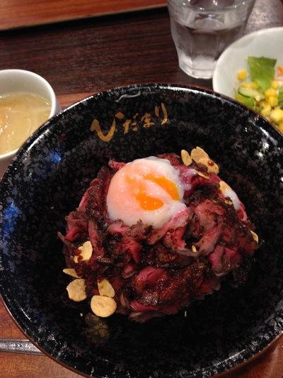 ローストビーフ丼「ひだまり」
