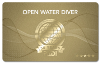 PADI 50周年記念カード