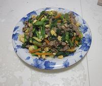 小松菜のスタミナ炒め