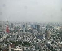 東京の六本木ヒルズ52F の眺め