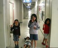 京都大学名物の長い廊下