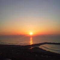 九十九里浜で旧正月の初日の出を