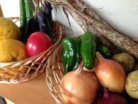 野菜のディスプレイ