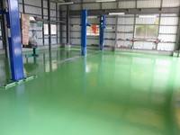 工場の床をグリーンに♪