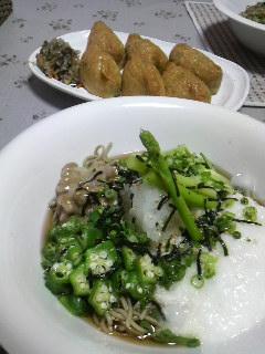 ねば蕎麦と変わりいなり寿司!?