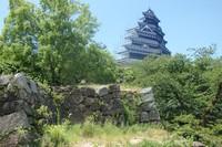 福岡城跡に幻の天守閣が現れた
